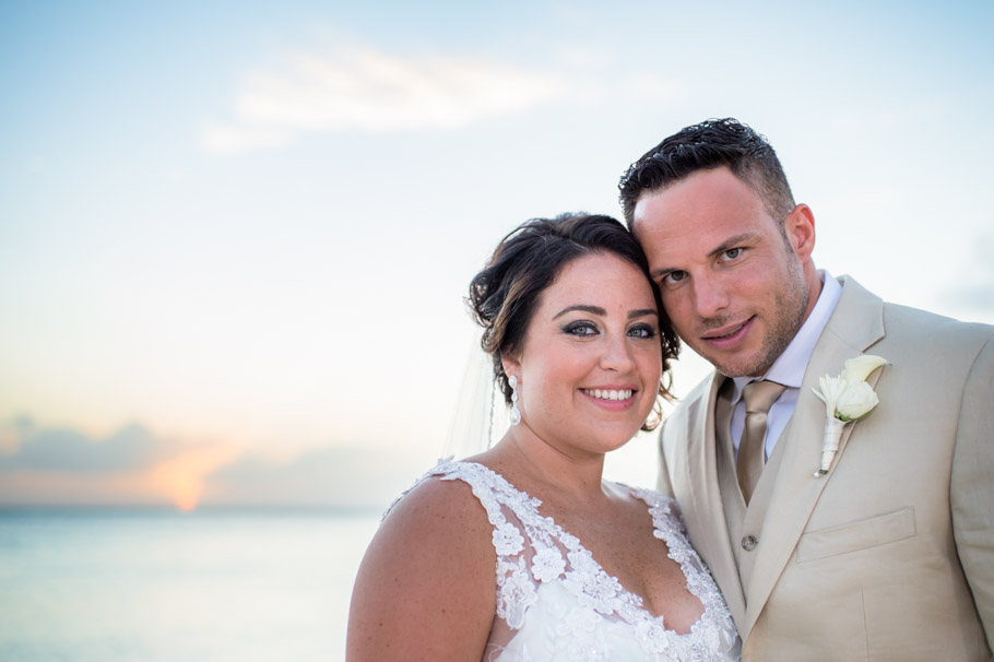 sunset aruba wedding portrait