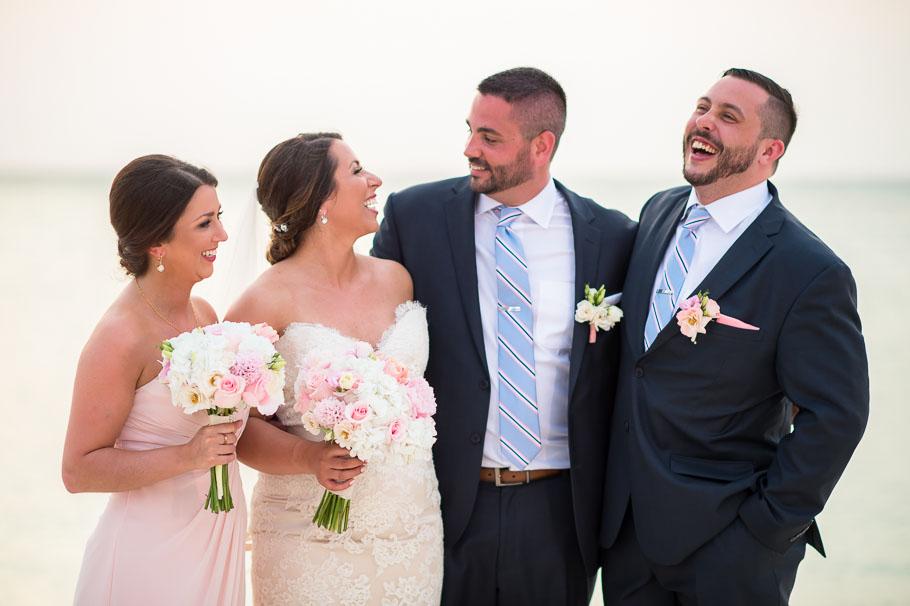 hilton aruba bride and groom