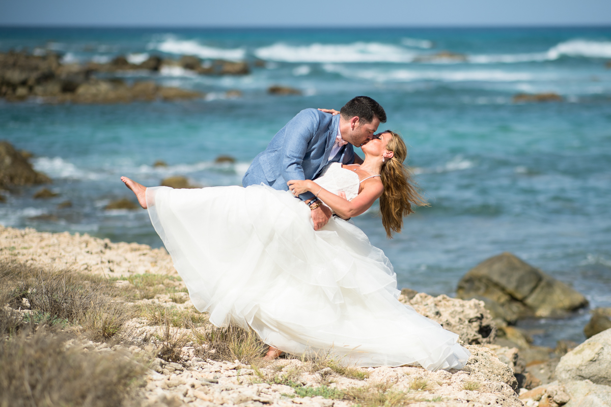 hilton aruba wedding photos