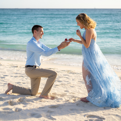 aruba proposal photography